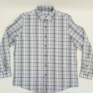 Tasso Elba Geometric Button Up Dress Shirt XL